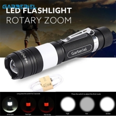 15000LM T6 Zoomable USB Rechargeable Led Flashlight Camping