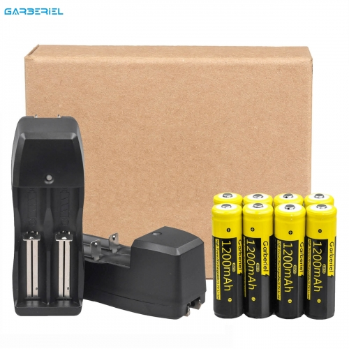 8 PCS Rechargeable High Protective Li-ion Batteries + 2 Pack Dual Battery Charger