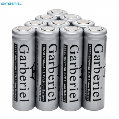 10PC Flat Top Battery 18650 4000mAh Rechargeable Li-ion Battery