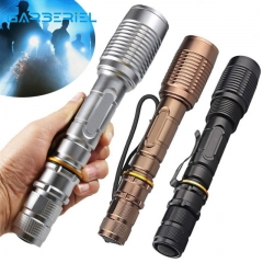 Super Bright Tactical T6 Led Flashlight Zoomable Torch for Outdoor & Self-defense