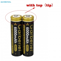 2PC Garberiel 18650 3.7V Battery 6000mAh (Black)