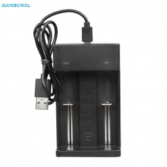 USB Dual Charger for Rechargeable Lithium Batteries 18650/14500/16340/26650