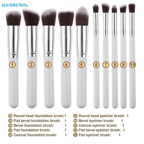 10pc/Set Makeup Brush Cosmetic Facial Foundation Blending Brushes Beauty Tool