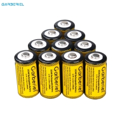 10 PCS Garberiel Rechargeable 16340 CR123A Battery 3.7V (Yellow)