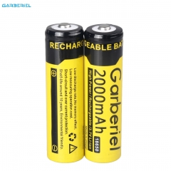 Garberiel High Power 2000mAh 100% Effective Power 3.7V Rechargeable 18650 Battery (Yellow) 1 Piece